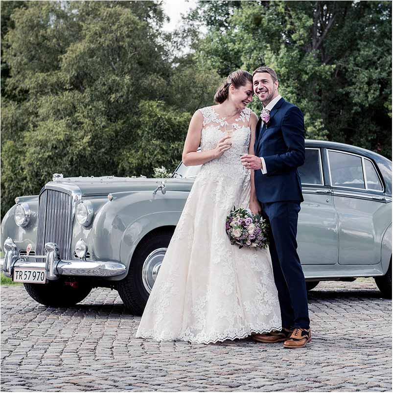brudeparret i Greve på Sjælland
