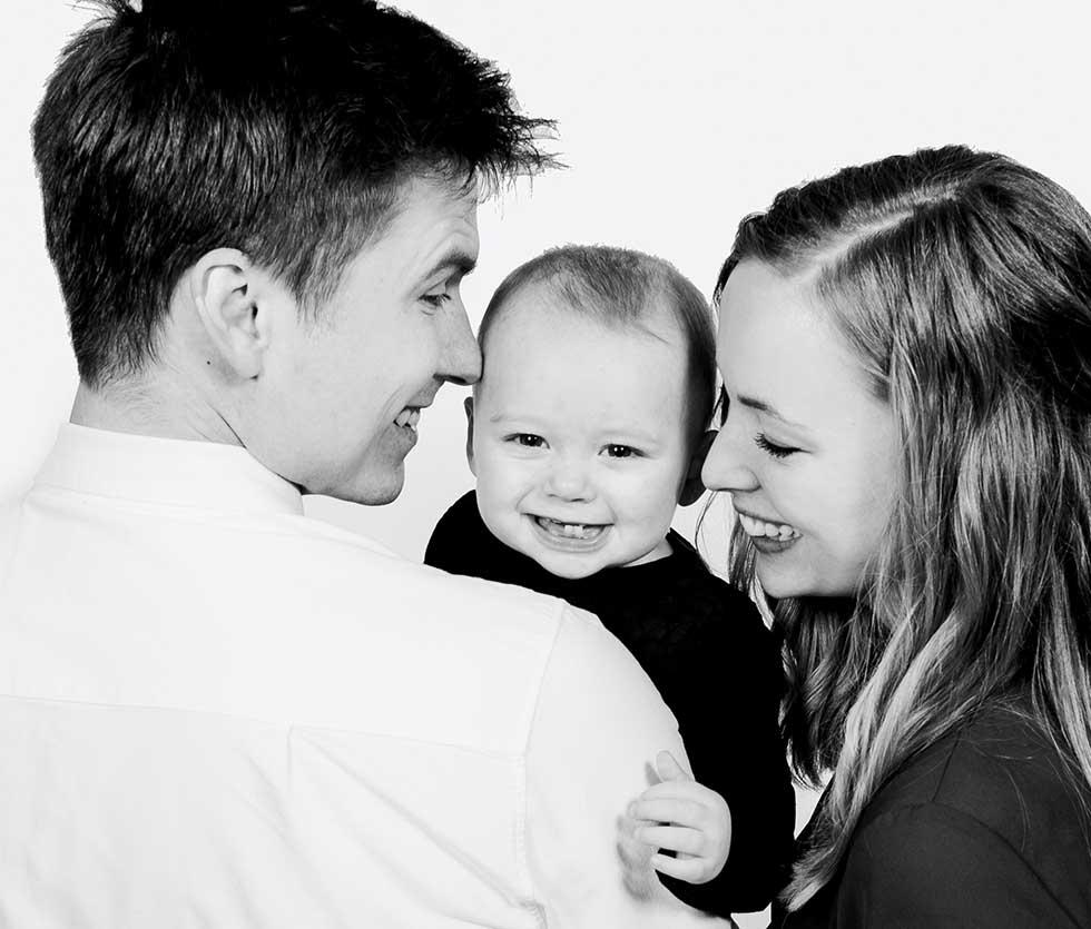 familie foto fra Østjylland