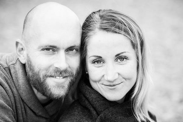 Kærestepar fotografering Østjylland