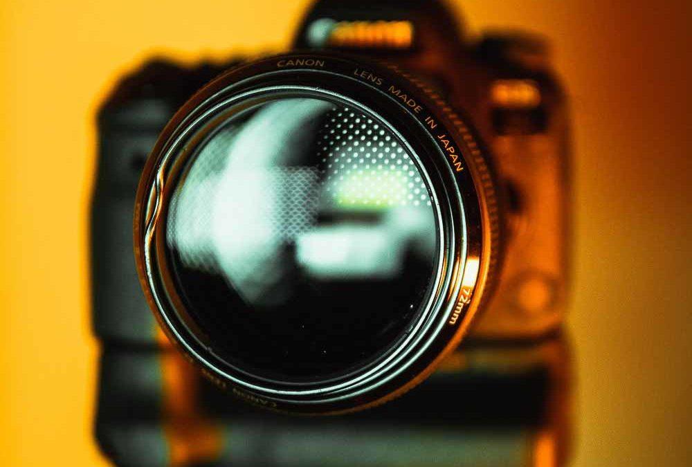 Et professionelt kamera